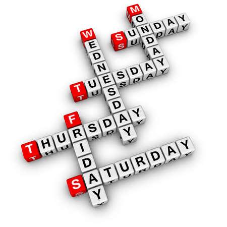 weekdays: weekdays crossword