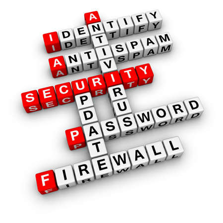 antivirus software: computer security (from crossword series) Stock Photo