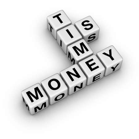 aphorism: time is money (from crossword series) Stock Photo