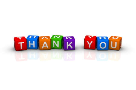 thanks (colorful buzzword cubes series) Stock Photo - 6585199