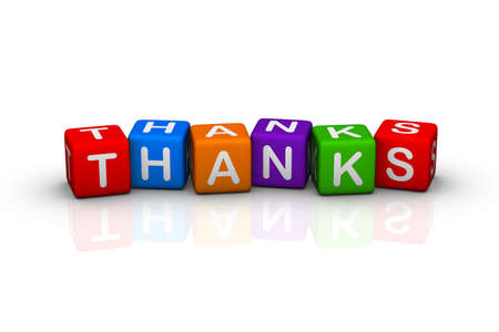 thanks (colorful buzzword cubes series) Stock Photo - 6585214