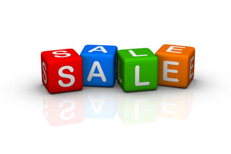sale (colorful buzzword cubes series) Stock Photo - 6585200