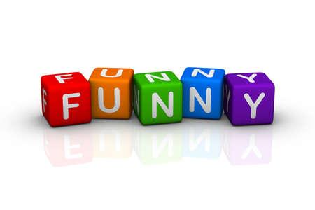 buzzword: funny  (buzzword cubes series) Stock Photo