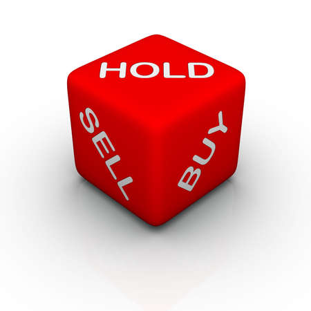 sel: buy, sell, hold (colorful cubes words series)