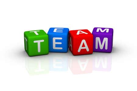 buzzword: team (buzzword colorful cubes series)