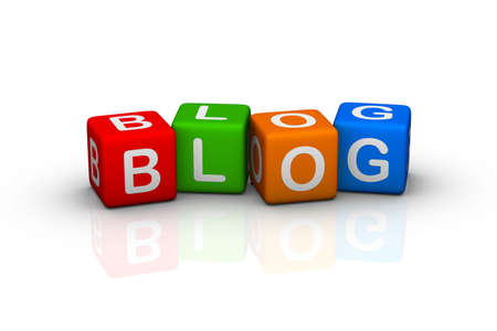 blog (buzzword colorful cubes series) Stock Photo - 6715473