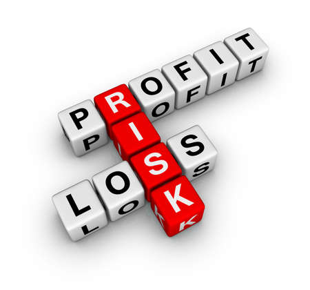 profit, loss and risk (buzzword crossword series) Stock Photo - 6715479
