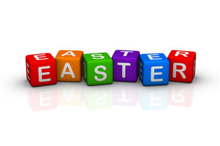 easter (buzzword colorful cubes series) photo