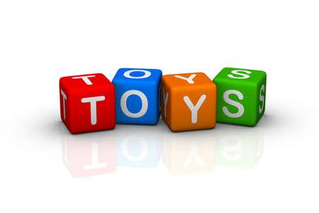 3d word: toys  (buzzword cubes series)