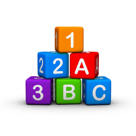 alphabet blocks: Educational Toy Blocks with letters and numbers
