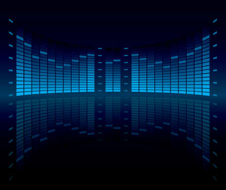 sound wave:  Graphic Equalizer Display (editable vector)