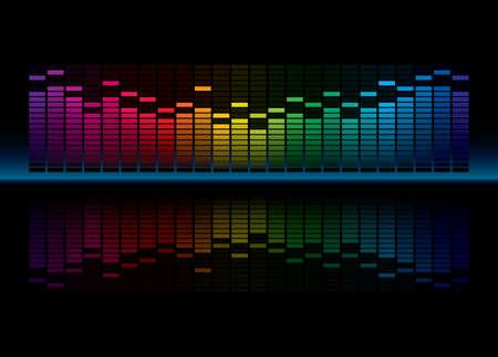 geluid: Coloful grafische equalizer-display