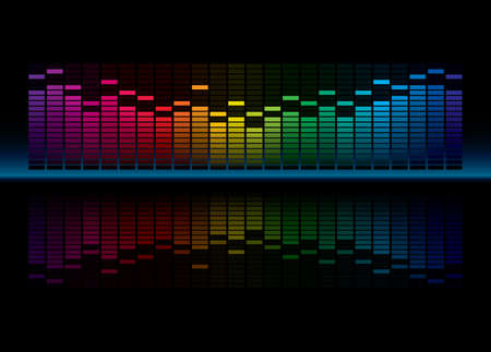 wave sound: Coloful Graphic Equalizer Display Illustration