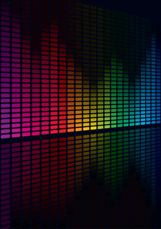 audio wave:  Coloful Graphic Equalizer Display for title page design