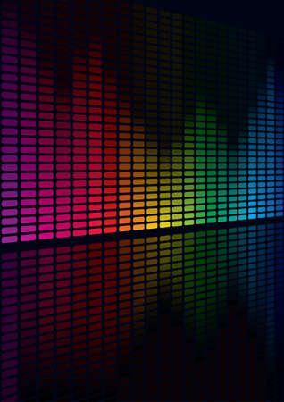 geluidsgolven: Grafische equalizer-display te Coloful voor de titel pagina ontwerp