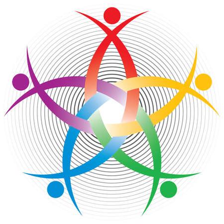 relaciones humanas: S�mbolo colorido de recursos humanos