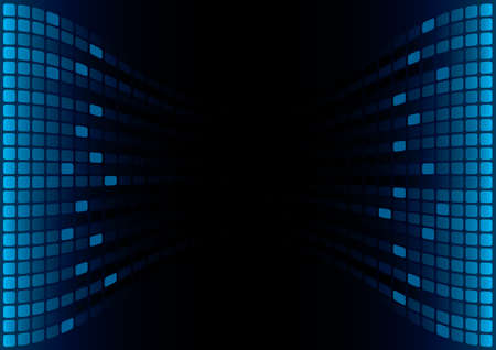 Blue Graphic Equalizer Display (editable vector) Vector