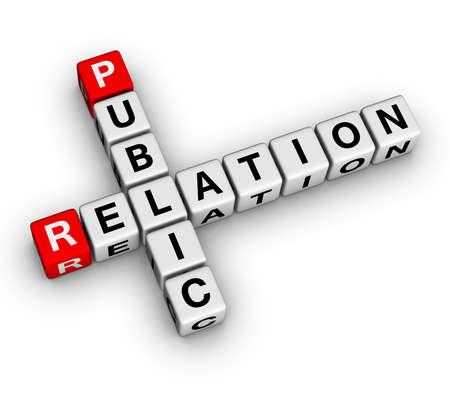 Public Relation (3D crossword series) Stock Photo - 7252205