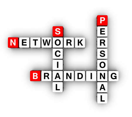 Personal Branding Social Network (3D crossword series) photo