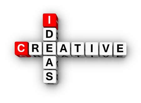 Creative Ideas (3D cubes crossword series) Stock Photo - 7252208