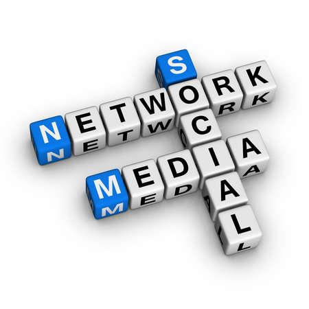 social gathering: Social Media Network  (blue-white cubes crossword series)