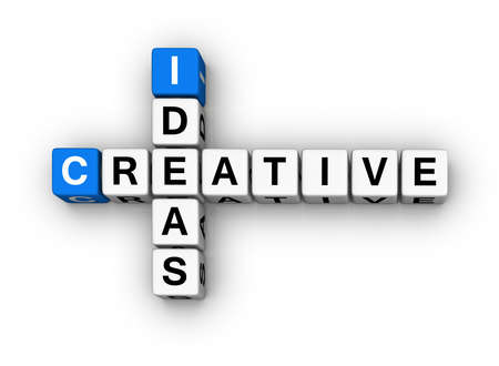 Creative Ideas  (blue-white cubes crossword series) Stock Photo - 7252223