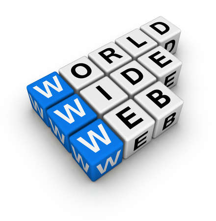 word wide web (blue-white cubes crossword series) Stock Photo - 7252258