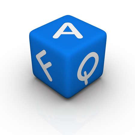 FAQ (blue cubes words series) photo