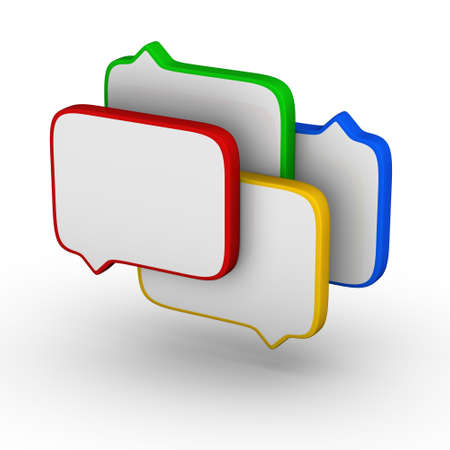 debate: bubble speech (colorful symbol set)