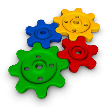 four gears (colorful symbol set) Stock Photo - 7894427