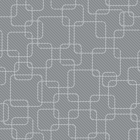 abstract gray rounded square background (tileable pattern) Vector