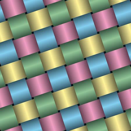 Urlaub Verpackung satin Papierhintergrund (editierbare seamless Pattern, See mehr in meinem Portfolio) Vektorgrafik