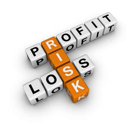 perdidas y ganancias: ganancias, la p�rdida y el riesgo (serie de crucigrama de cubos de azul blanco)