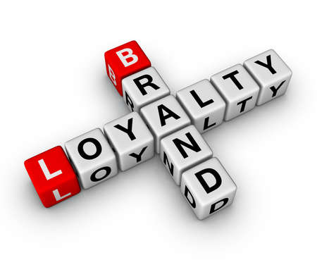 brand and customer loyalty crossword Stock Photo - 8333546