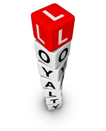 customer loyality spiral cubes tower Stock Photo - 8333529
