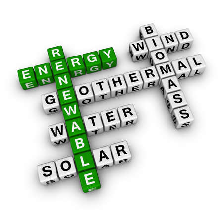 crossword: renewable energy crossword Stock Photo