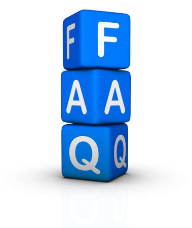 asked: Frequently Asked Questions symbol isolated on white background Stock Photo