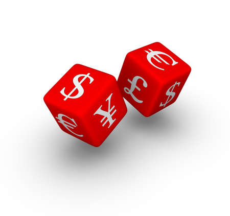 currency exchange: currency exchange red dice icon