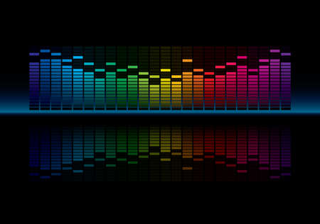 Coloful Graphic Equalizer Display  Vector