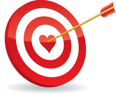 doelstelling: doelgroep liefde en pijl Stock Illustratie