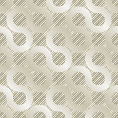 wave pattern: light golden mishmash seamless background for web design or wrapping Illustration