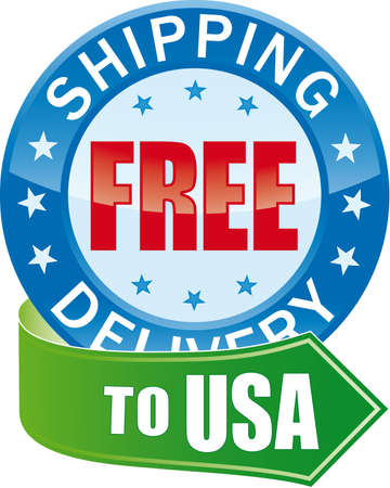 Free Shipping Glossy Web Icon  Vector