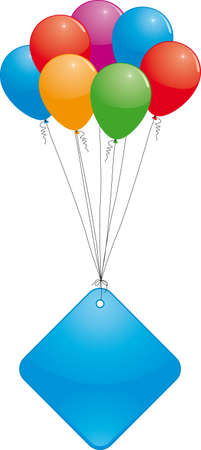 hollyday: Colorful balloons with empty price tag