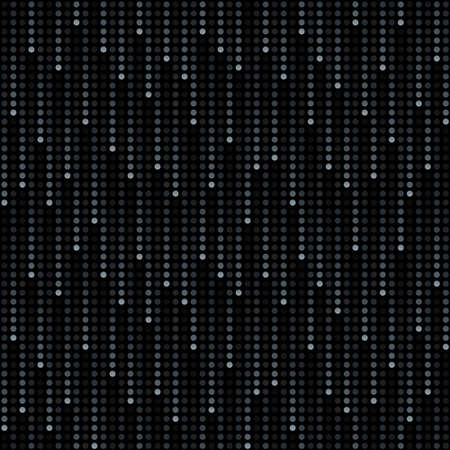 mosaic pattern: cosmic rain of halftone dots (seamless background)