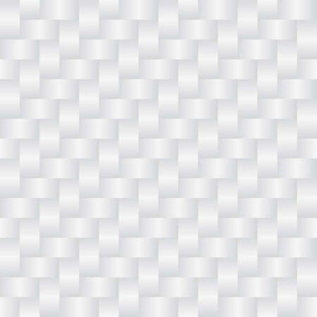 Wicker white background (editable seamless pattern) Vector