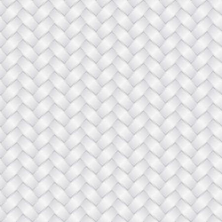 Fondo de mimbre blanco (patrón transparente editable) Ilustración de vector