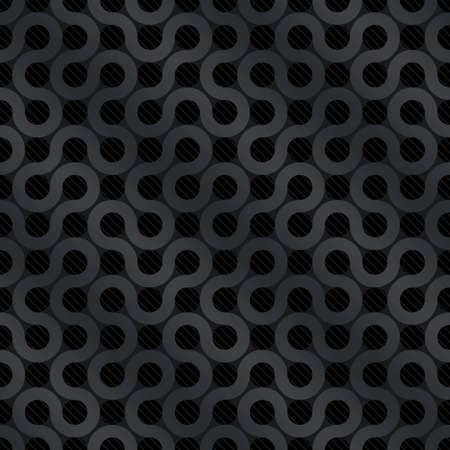 Carbon flow background (editable seamless pattern) Vector