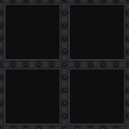 heavy metal: Carbon vent plate (seamless background)