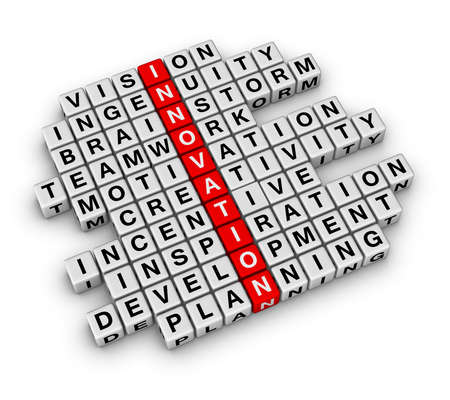 New Business Innovation (cubes crossword series) Stock Photo - 8720521