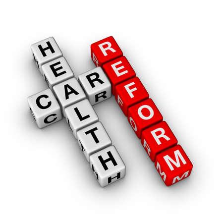 Healthcare Reform cubes crossword series photo